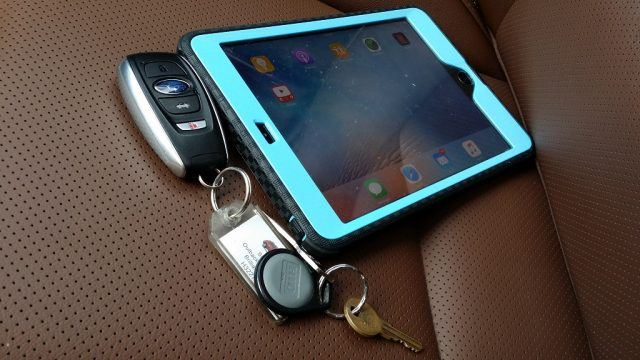 Leaving items like keys or a tablet out in the open is tempting for car thieves