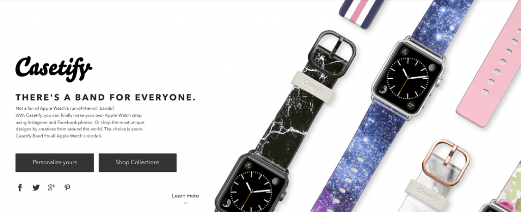 Screenshot for Casetify Apple Watch Bands