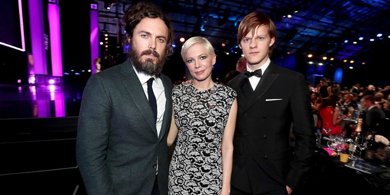 Casey Affleck, Michelle Williams, and Lucas Hedges