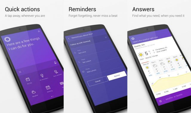 Cortana assistant is a great Siri alternative for Android, particularly if you own a Windows 10 PC