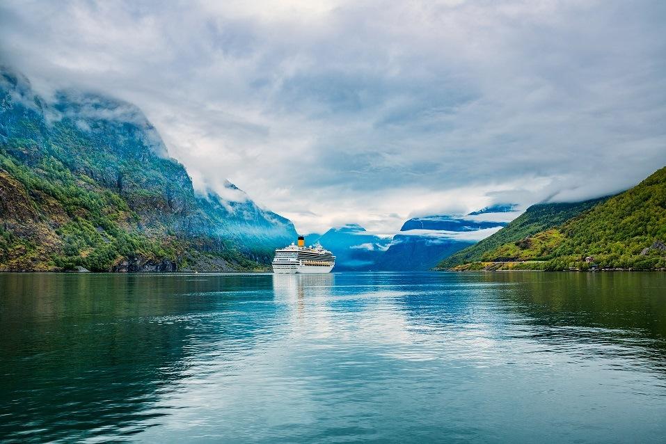 Cruise Liners On Hardanger fjorden, Norway