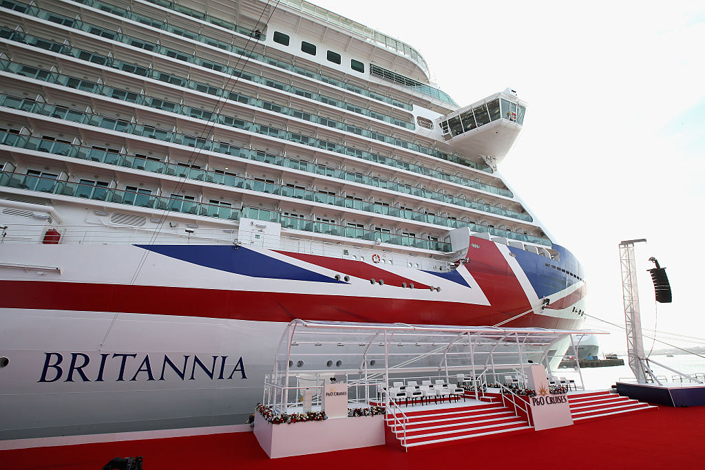 A general view of one of the largest cruise ships in the world, the Britannia, ahead of the naming ceremony for the P&O Cruises vessel.