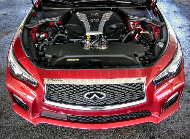 The twin-turbo 3.0-liter V6 found in the Infiniti Q50