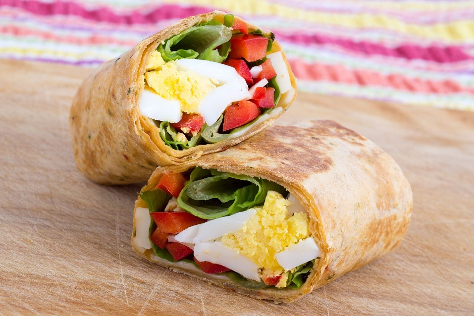 egg cheese and pepper sandwich wrap