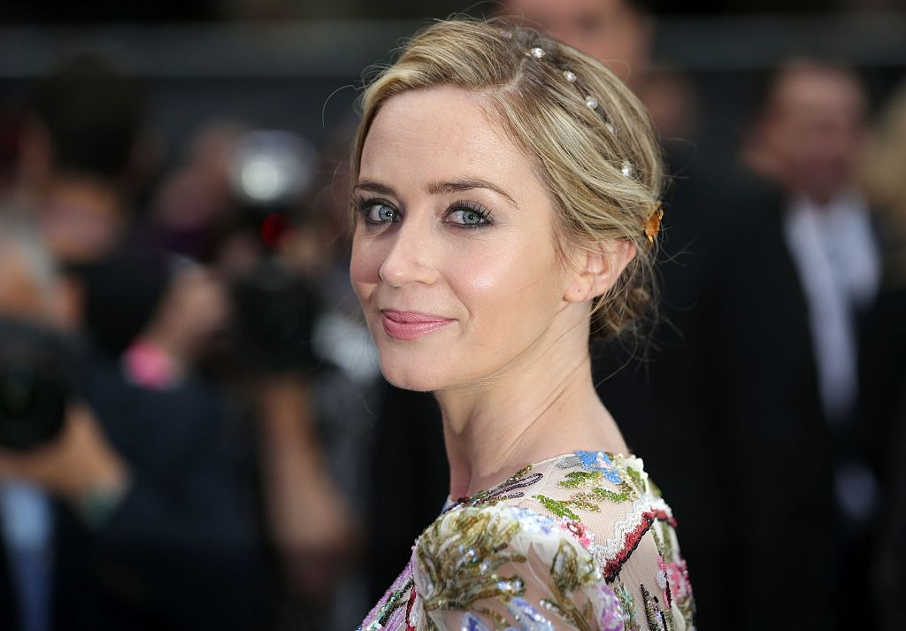 British actress Emily Blunt poses for photographers