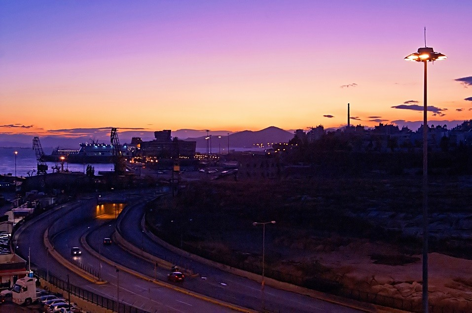 Passenger port of Piraeus in Attica, Greece