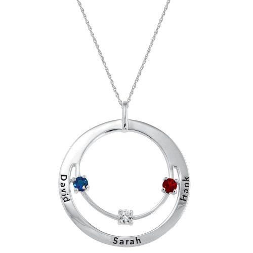 Product photo of Family Circle of Love Birthstone Necklace