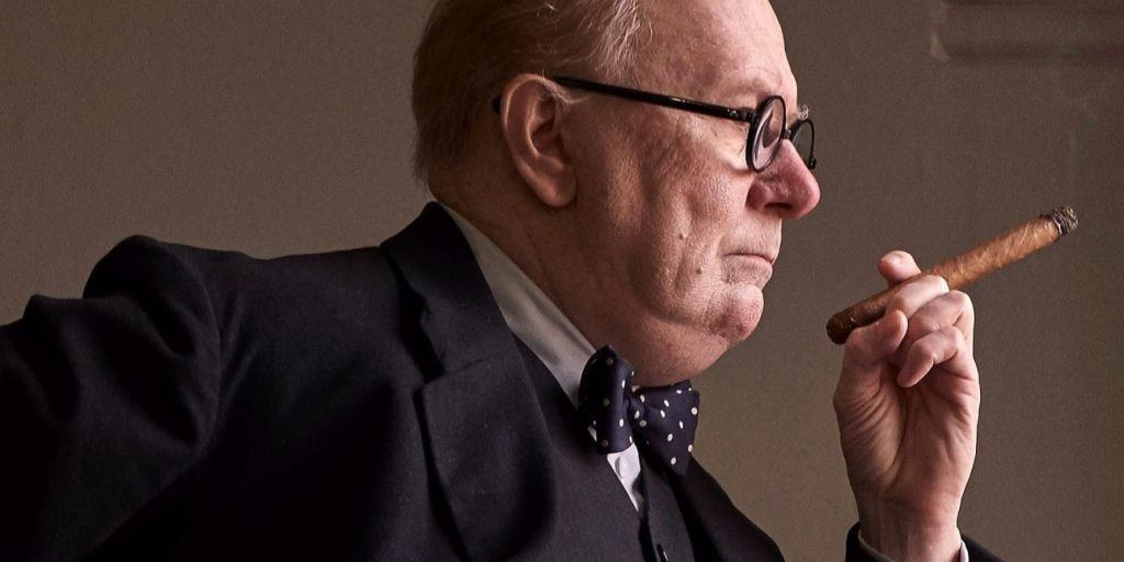 Gary Oldman as Winston Churchill in Darkest Hour, Focus Features, movies based on true stories
