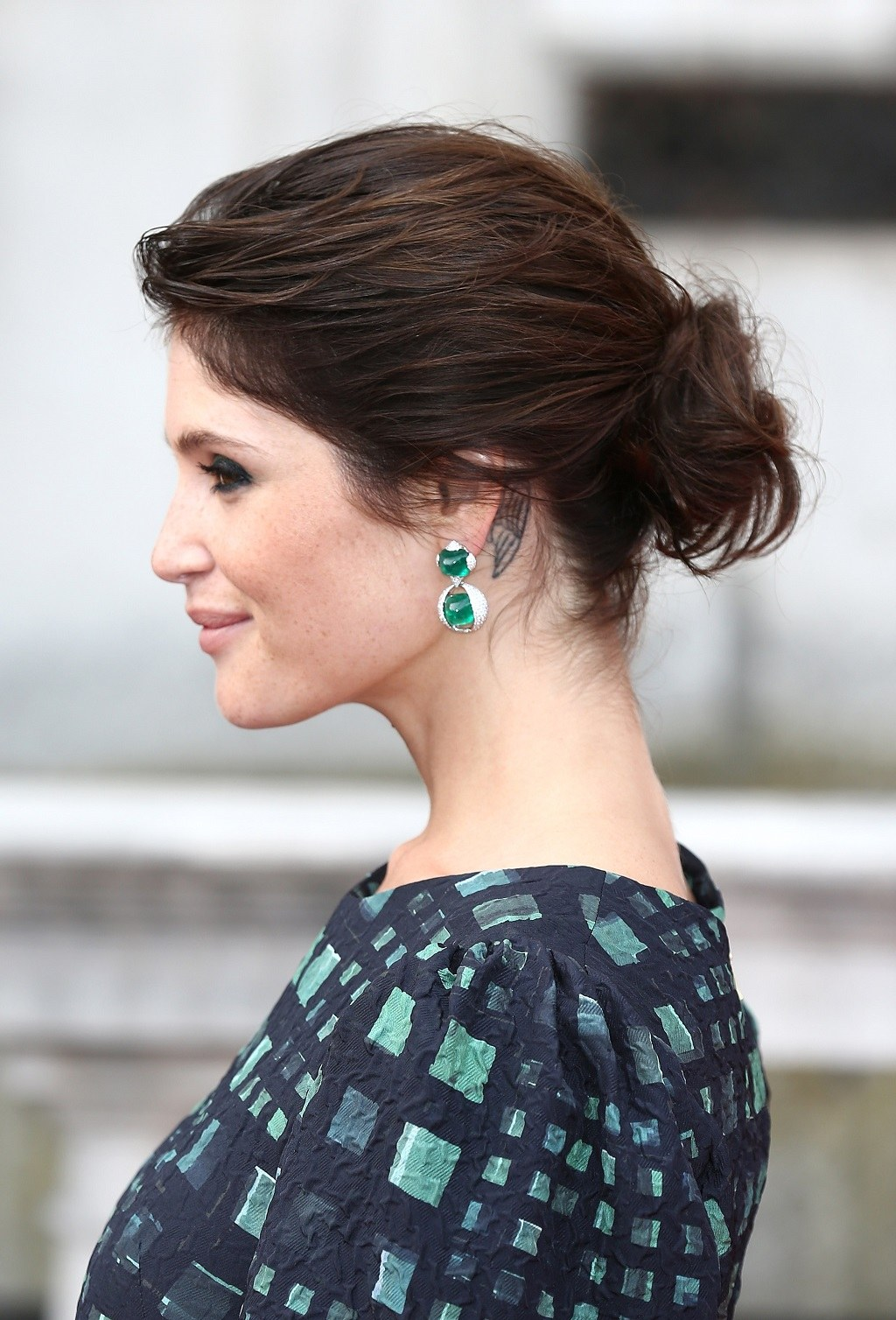 "Gemma Arterton attends a UK Premiere of ""Gemma Bovery"" at Somerset House"