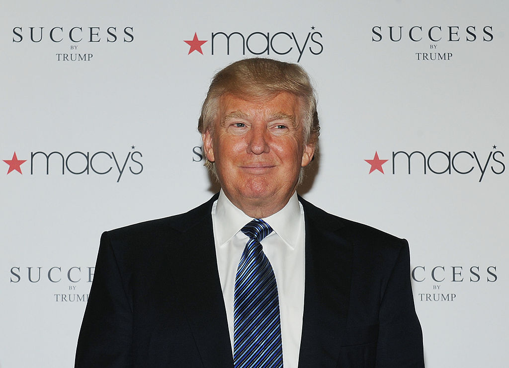 "Donald Trump attends the launch of his namesake fragrance, ""Success by Trump."""