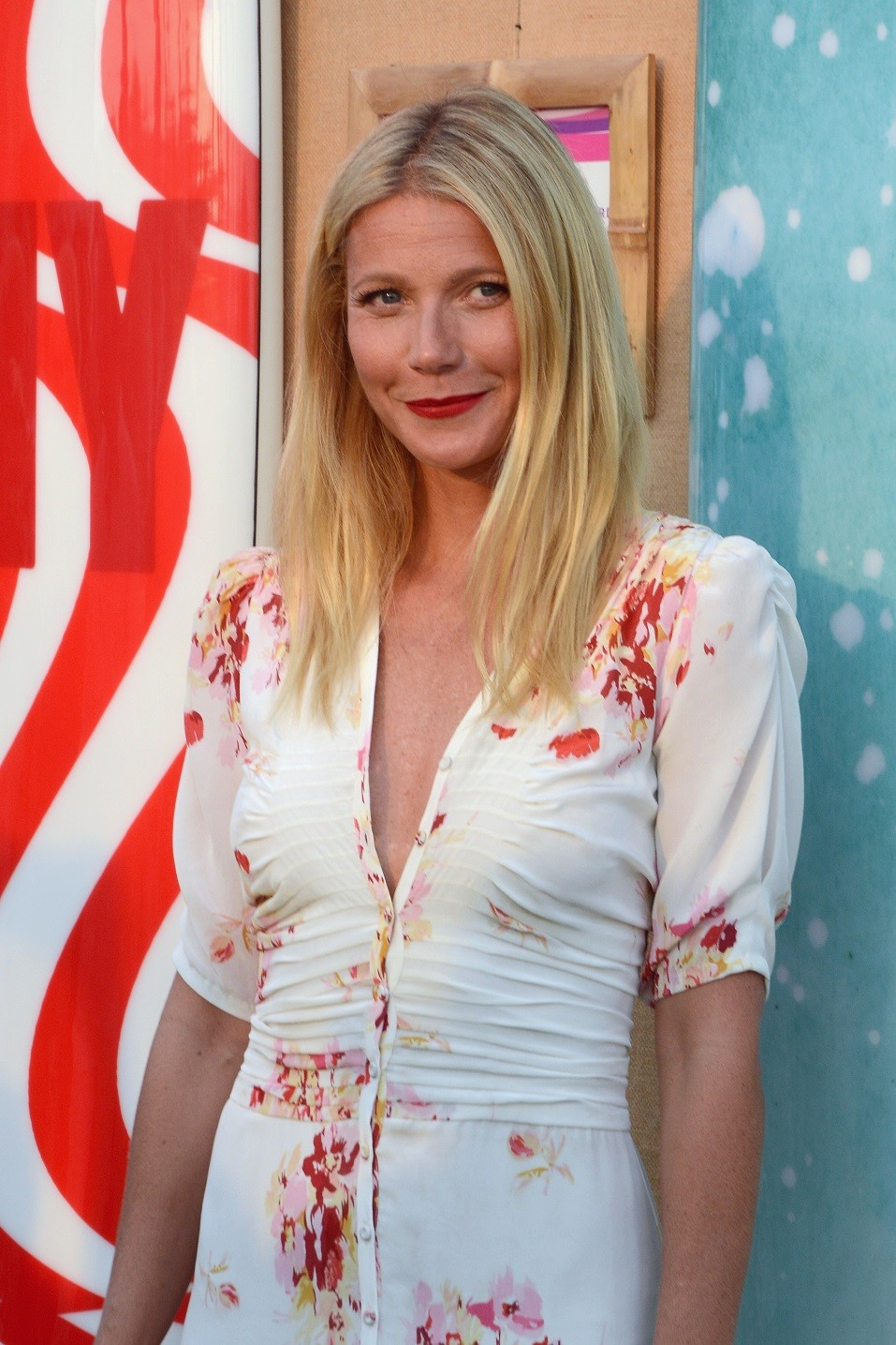 Gwyneth Paltrow toasts to Paddle for Pink with Moet Ice Imperial on August 1, 2015 in Bridgehampton