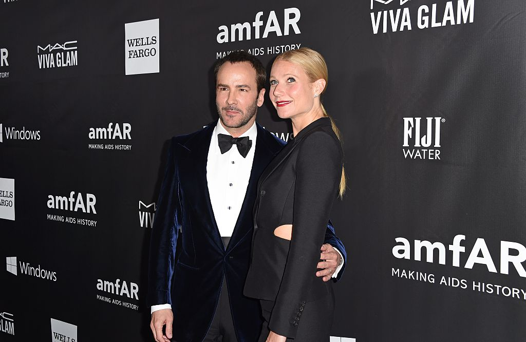 Designer Tom Ford (L) and actress Gwyneth Paltrow attend amfARs fifth annual Inspiration Gala in Los Angeles