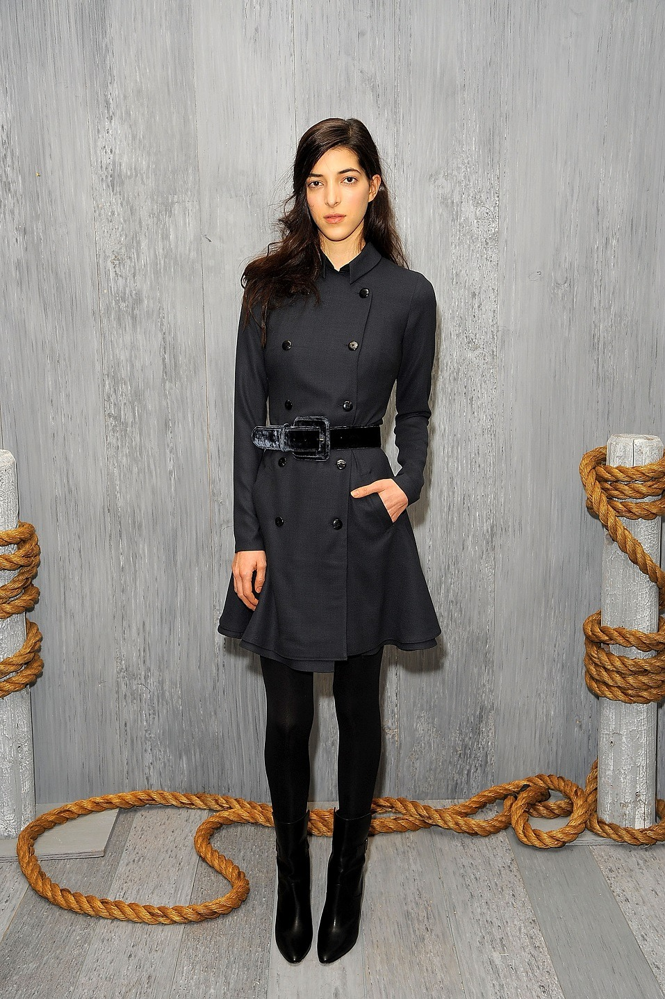 A model poses at the HANLEY MELLON Fall/Winter 2015 Collection Presentation