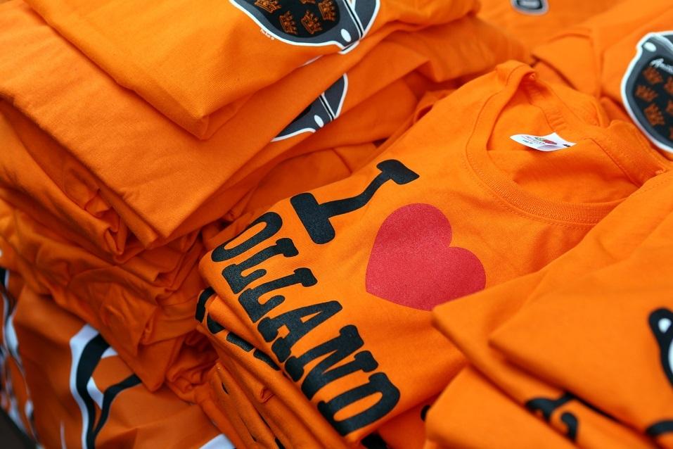 Orange Shirts at a Souvenir-Shop in Amsterdam