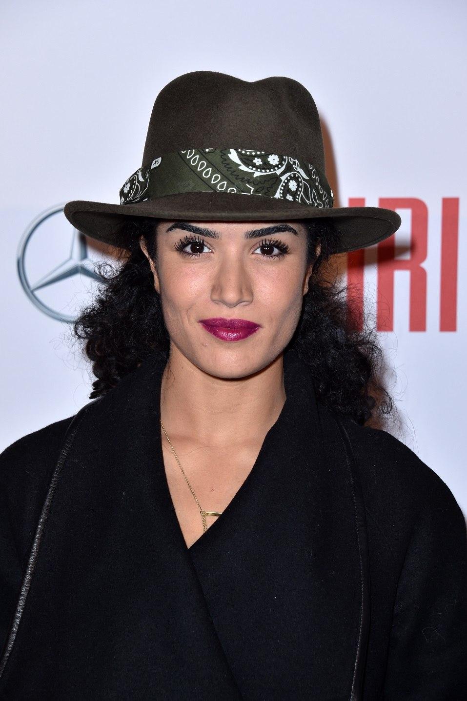"""Sabrina Ouazani attends """"Iris"""" Paris Premiere at Gaumont Champs Elysees"""