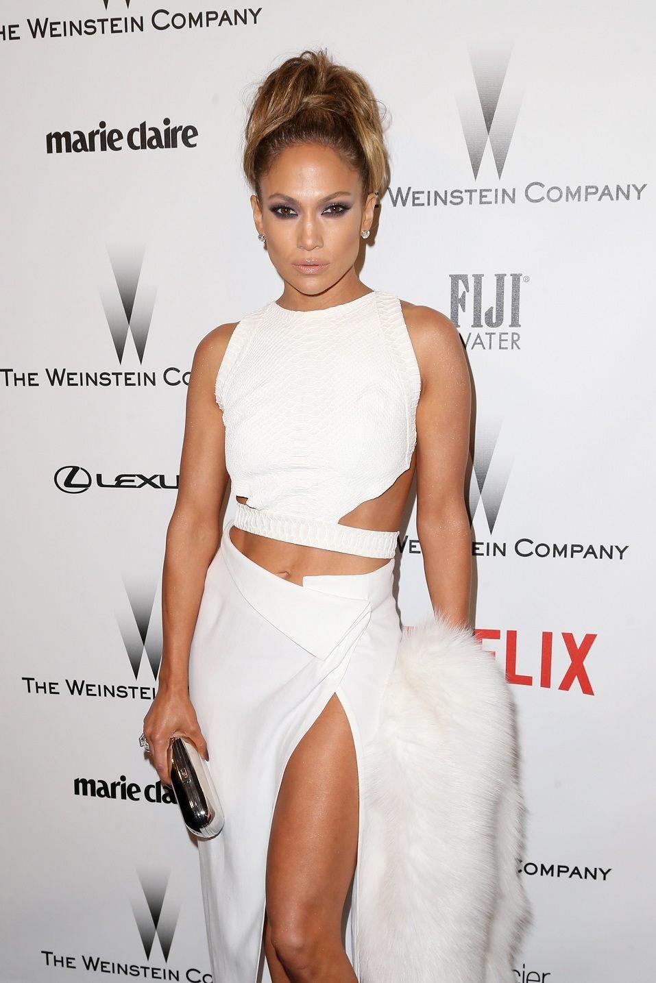 Actress/singer Jennifer Lopez attends the 2015 Weinstein Company and Netflix Golden Globes