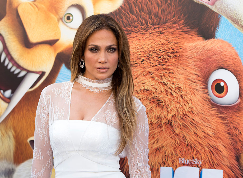 """Actress and singer Jennifer Lopez arrives for the """"Ice Age: Collision Course"""""""