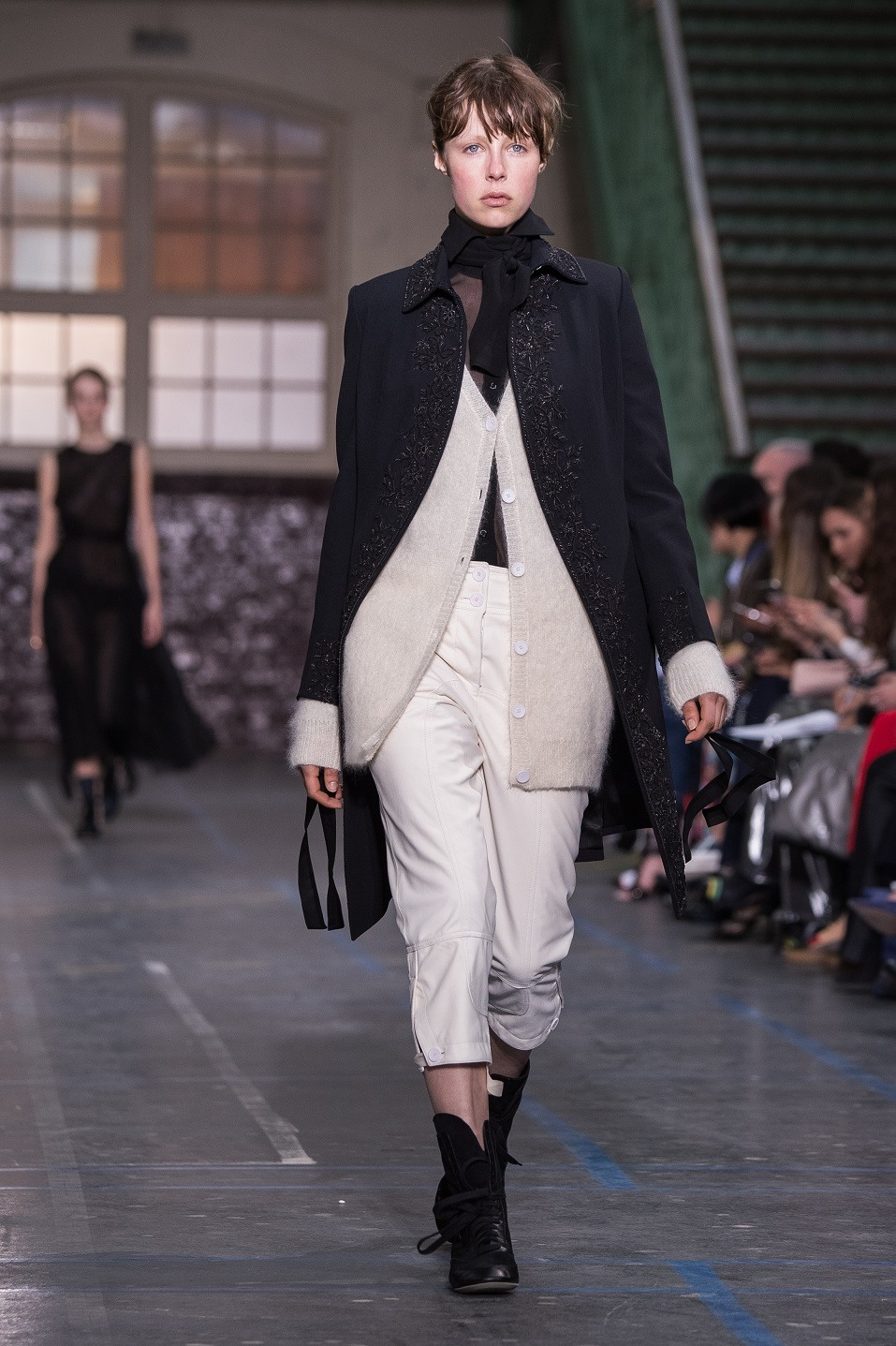 Model Edie Campbell walks the runway during the John Galliano show as part of the Paris Fashion Week