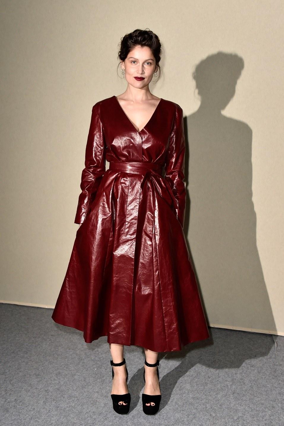 Laetitia Casta attends the Nina Ricci show as part of the Paris Fashion Week