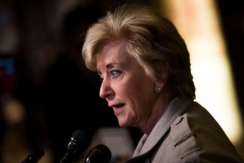 Linda McMahon, former CEO of World Wrestling Entertainment