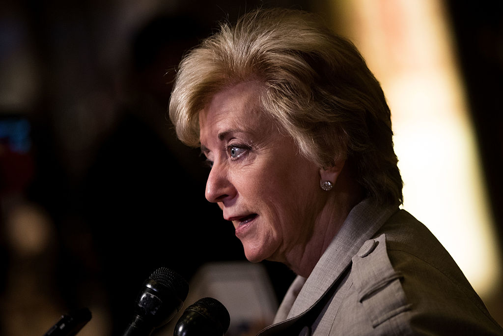 Linda McMahon, former CEO of World Wrestling Entertainment