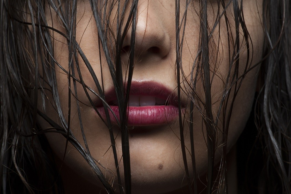 Cropped beauty close-up of lower half of a Caucasian woman's face