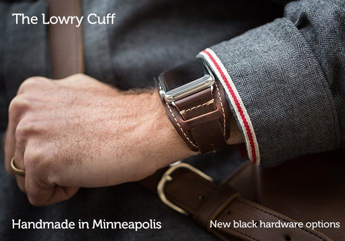 Lowry Leather Cuff Watch Band