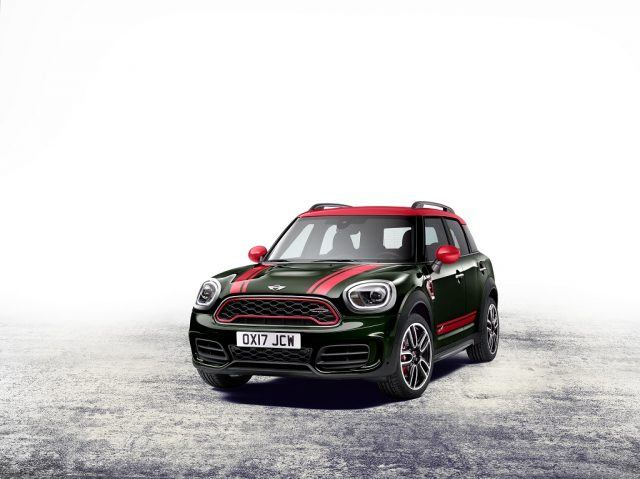 The larger air inlets on the front of the JCW Countryman are designed to better pipe in cold air while looking good in the process