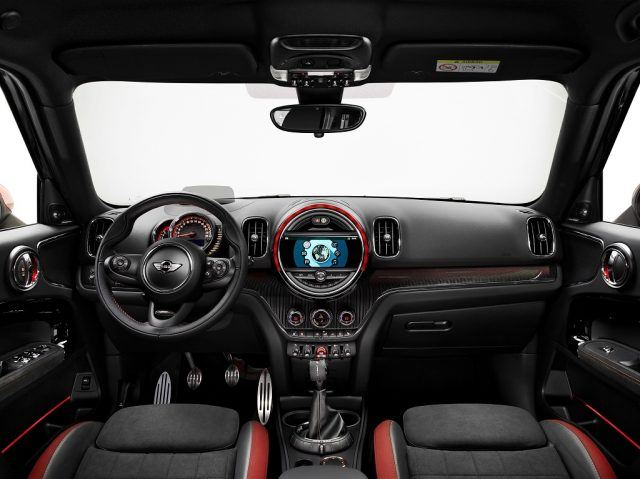 The cabin of Mini's all-new JCW Countryman is equal parts classy, clever, fun, and track-focused | MINI