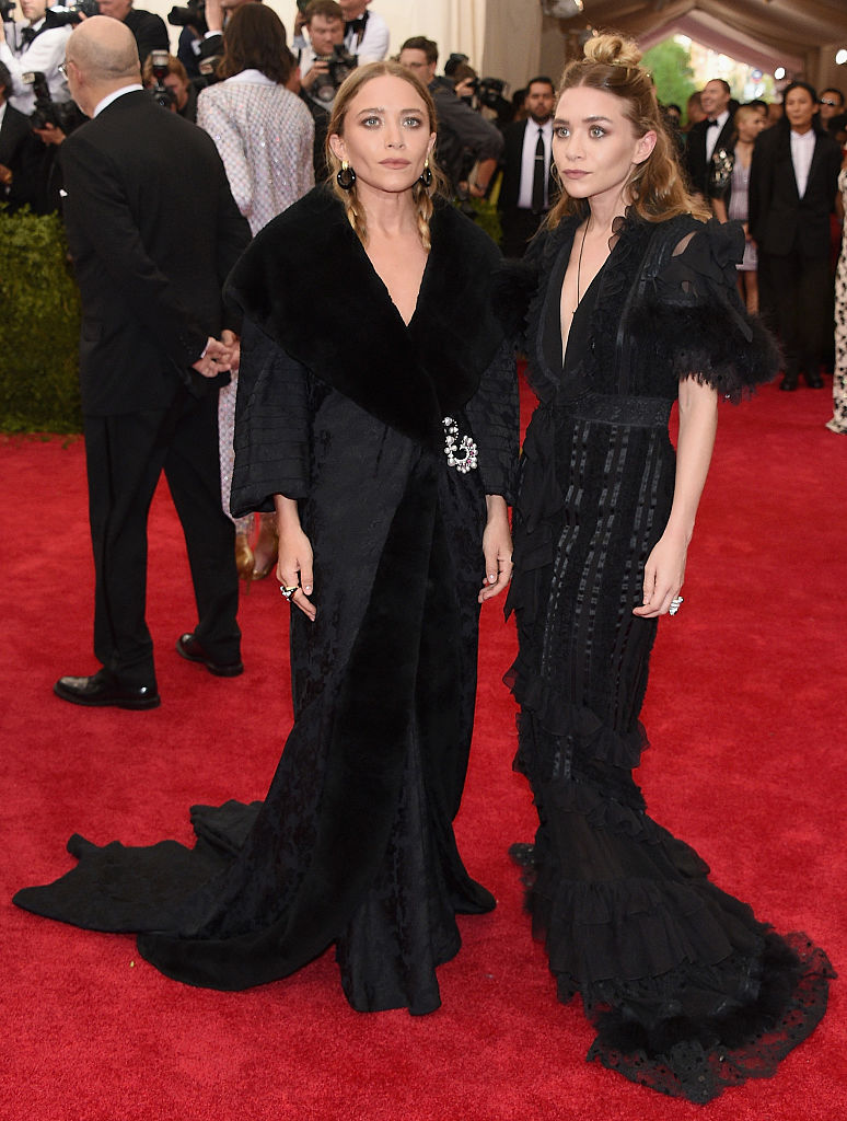 "Mary Kate and Ashley Olsen attend the ""China: Through The Looking Glass"" Costume Institute Benefit Gala"