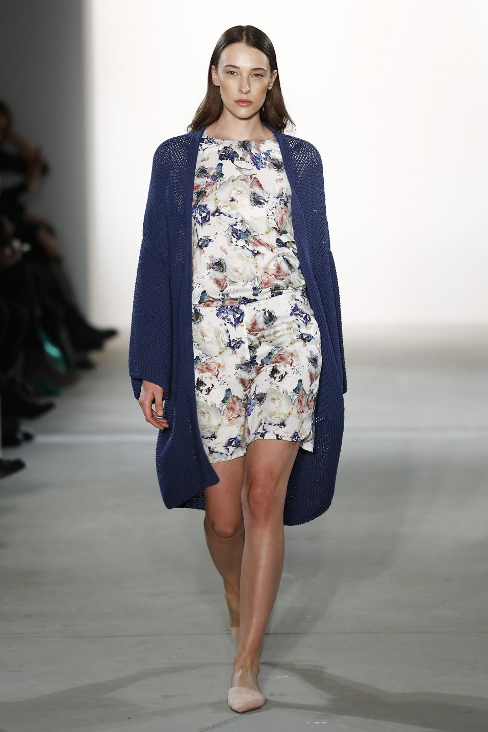 A model walks the runway at the holyGhost show during the Mercedes-Benz Fashion Week