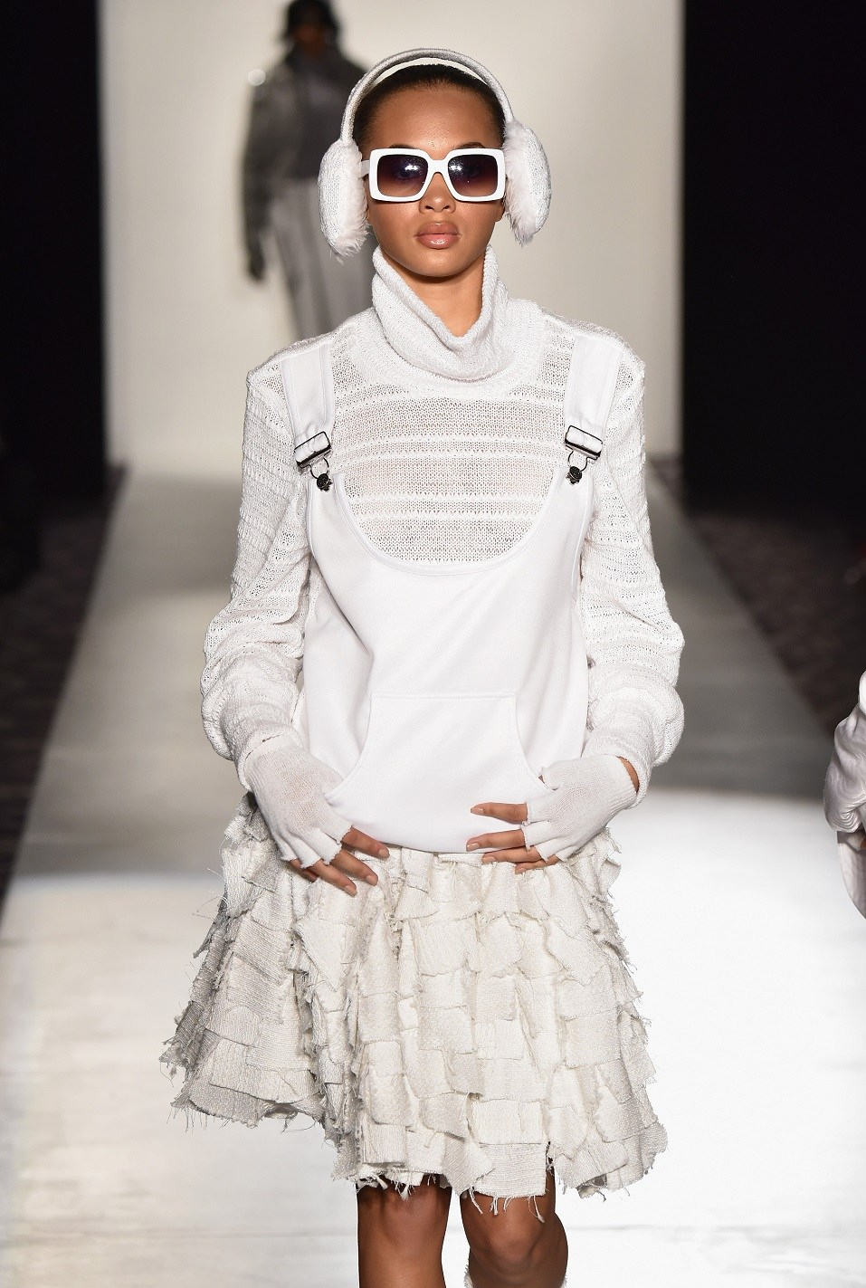 A model walks the runway at the Designers' Collective runway show featuring Ayasa Afi