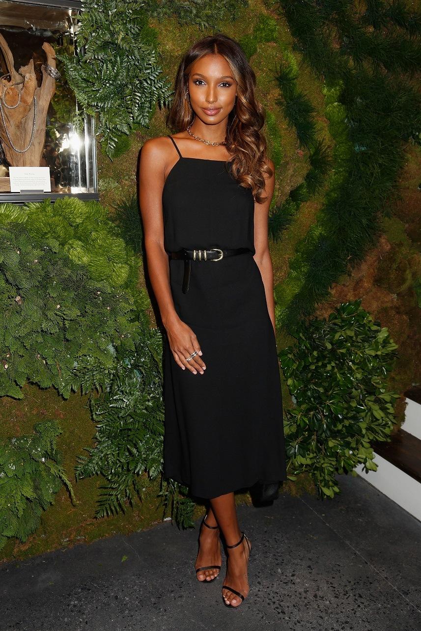 Model Jasmine Tookes attends the John Hardy Artisan in Residence Launch