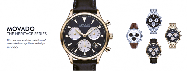 Promotional photo of Movado watches