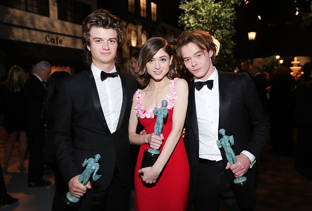 Actors Joe Keery, Natalia Dyer and Charlie Heaton attend People And EIF's Annual Screen Actors Guild Awards Gala