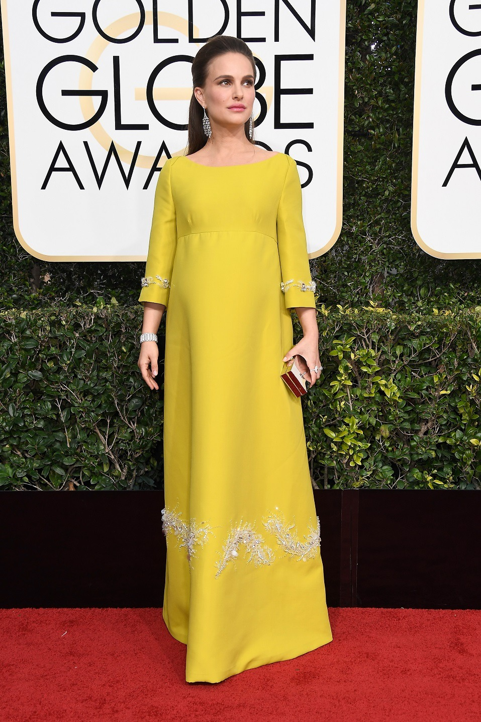 Actress Natalie Portman attends the 74th Annual Golden Globe Awards at The Beverly Hilton Hotel