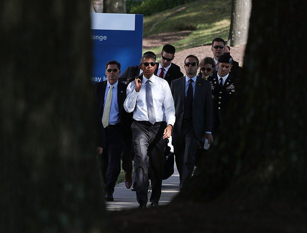 Barack Obama at Walter Reed hospital
