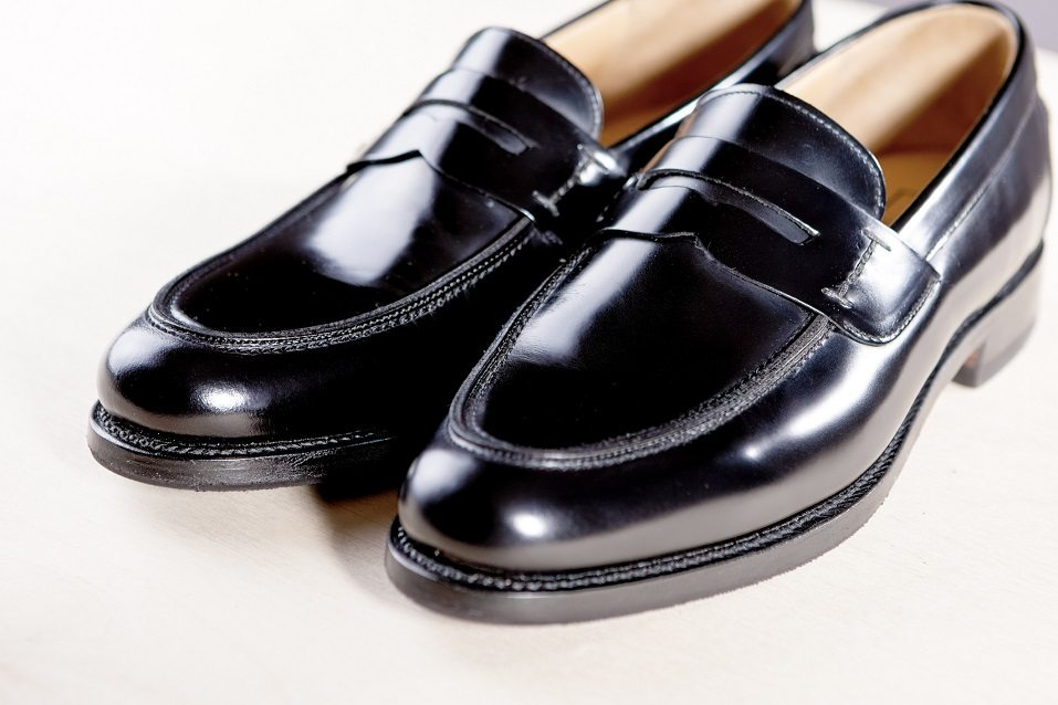 Expensive Modern Leather Black Penny Loafers Shoes