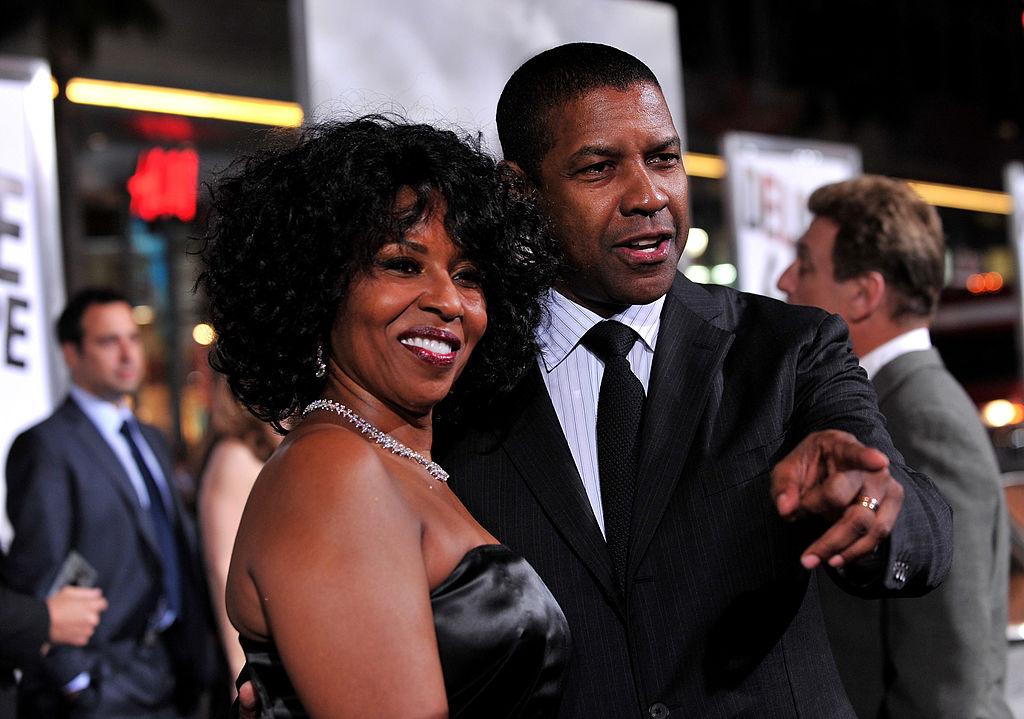 Pauletta Washington and actor Denzel Washington arrive at the premiere of Warner Bros. 'The Book Of Eli'