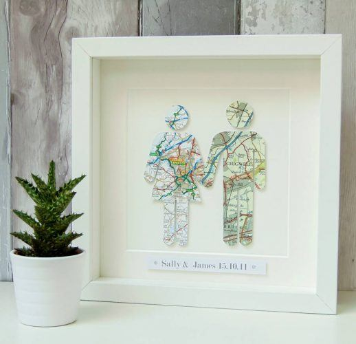 Product photo of Personalized Couple Map Picture