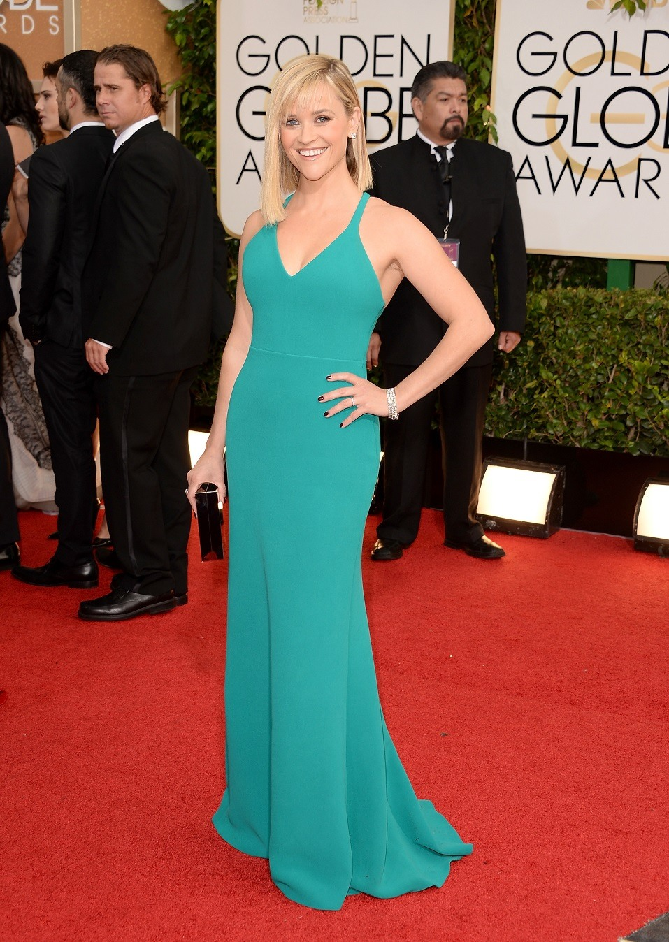 Actress Reese Witherspoon attends the 71st Annual Golden Globe Awards