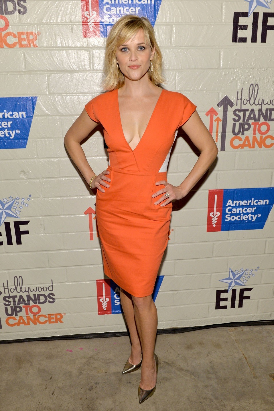 Host Reese Witherspoon attends Hollywood Stands Up To Cancer Event