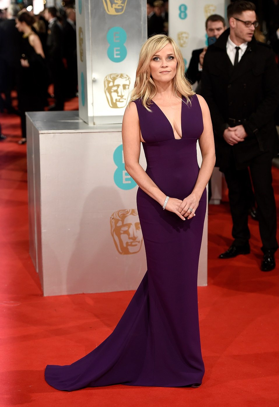 Reese Witherspoon attends the EE British Academy Film Awards at The Royal Opera House