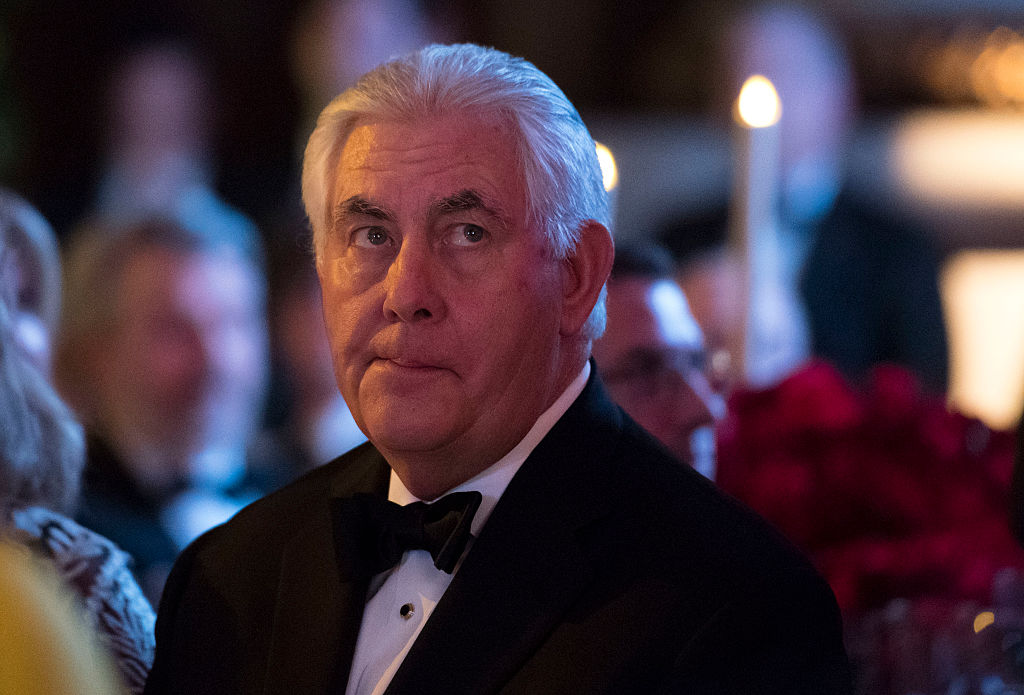 Secretary of State-designate Rex Tillerson attends the Chairman's Global Dinner