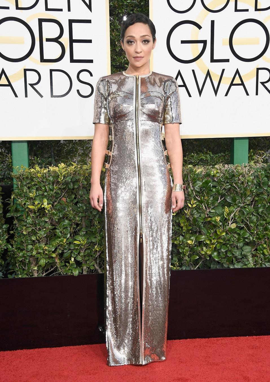 Actress Ruth Negga attends the 74th Annual Golden Globe Awards