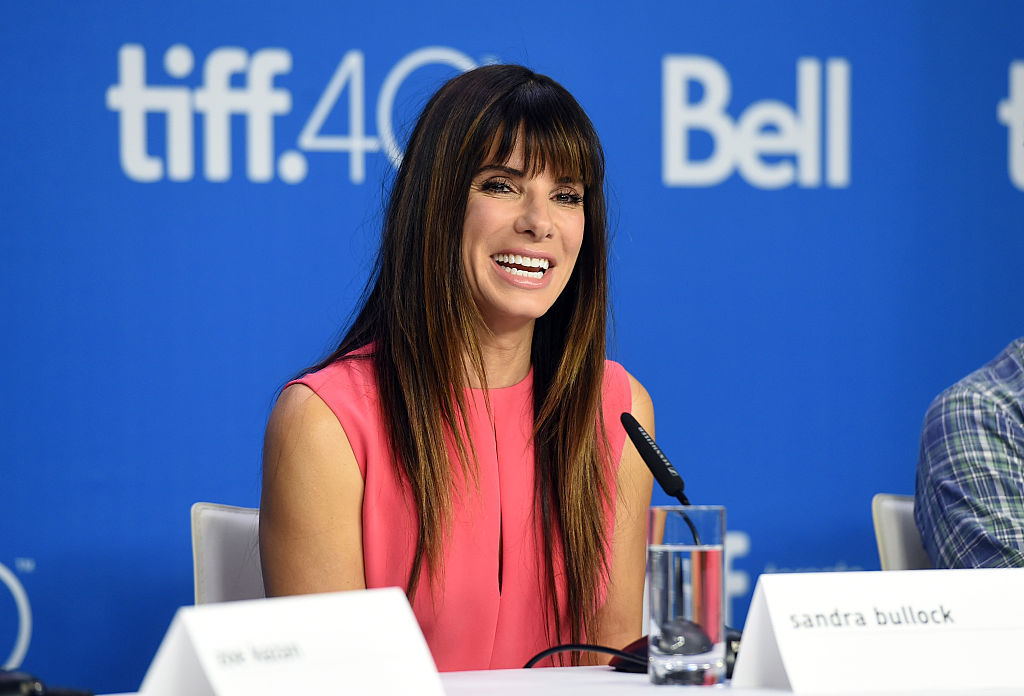 Actress/executive producer Sandra Bullock speaks onstage
