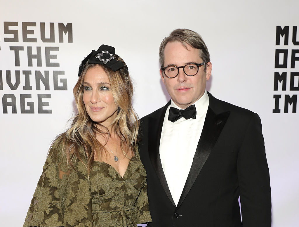 Sarah Jessica Parker and Matthew Broderick on the red carpet standing together