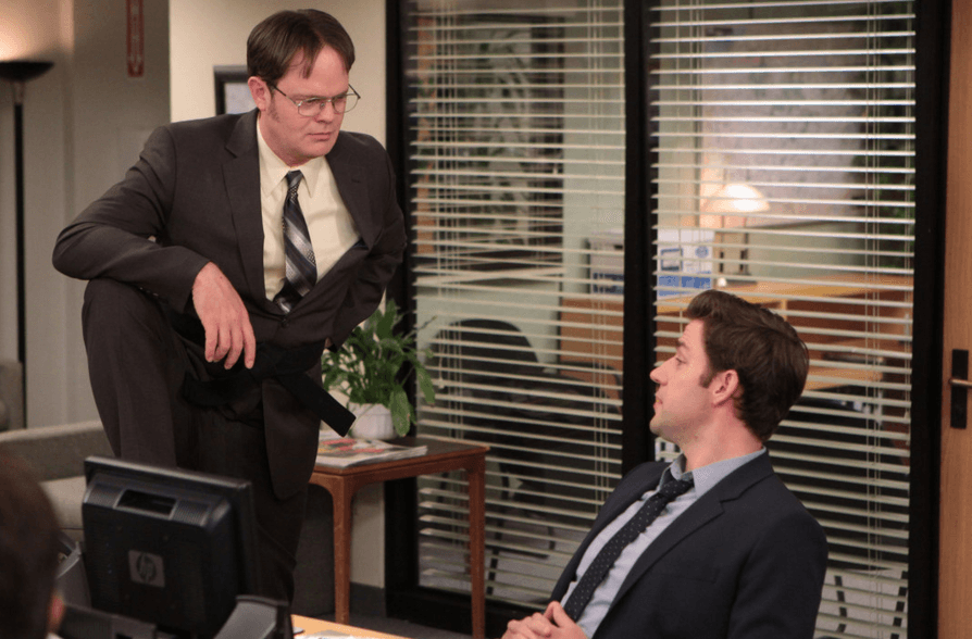 Dwight and Jim in The Office
