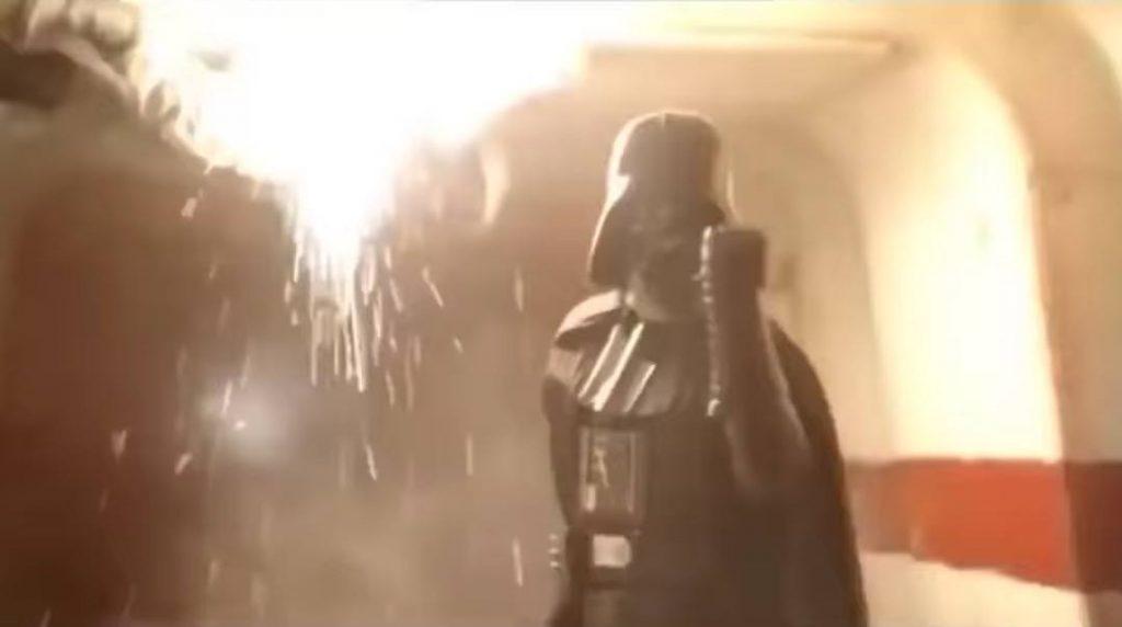 Darth Vader at the end of Rogue One