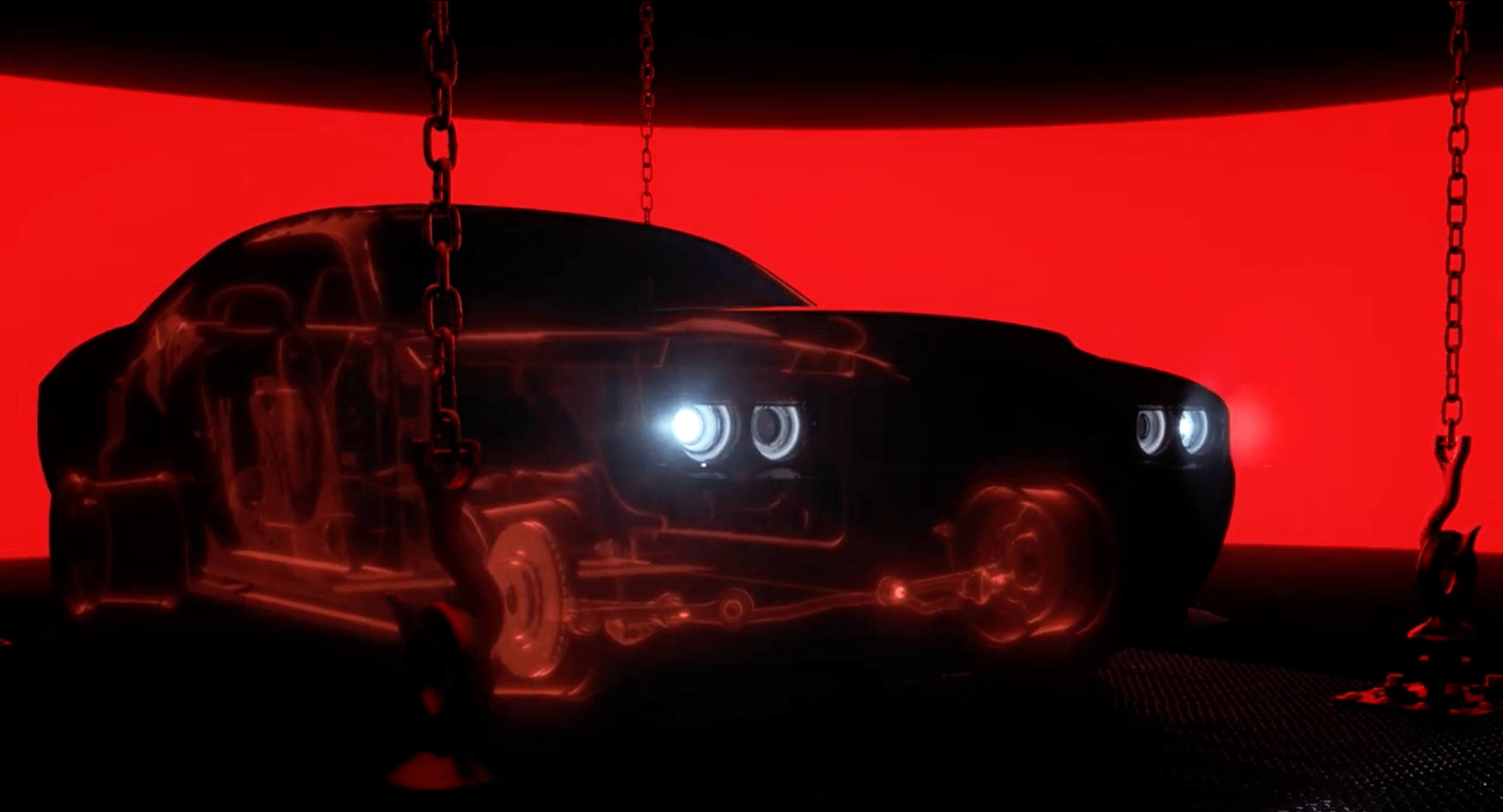 A still from the 2018 Dodge Demon teaser on YouTube